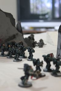 A10 - Some of the Assault Marines weren't fast enough, however, and are brought own by melta fire.JPG